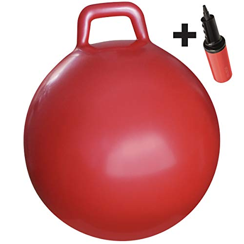 "WALIKI Hopper Ball| Hippity Hop | Jumping Hopping Therapy Ball | Relay Races | Red (Ages: 16-101 (29""/75CM)"