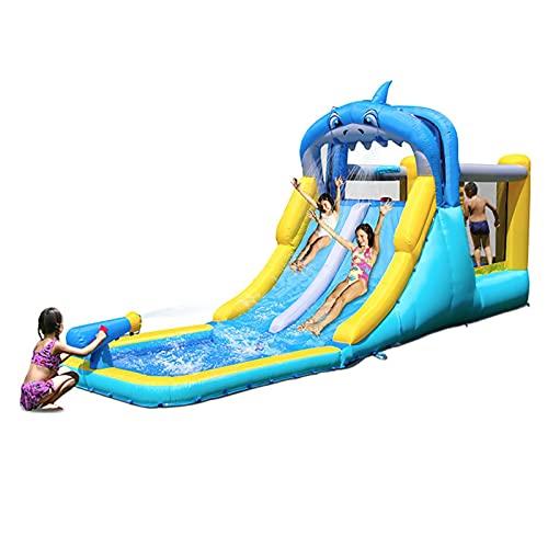 LGLE Gorila inflable de la diapositiva, castillos animosos, tobogán acuático inflable al aire libre engrosamiento de la casa de los niños, inflable grande castillo trampolín, 530X185X258cm,
