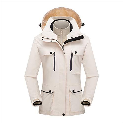 Utomhus Skidkläder Jacka Damer Tre-i-ett Tvådelat Vindtät Och Vattentätt (Color : Pink, Size : X-Large)