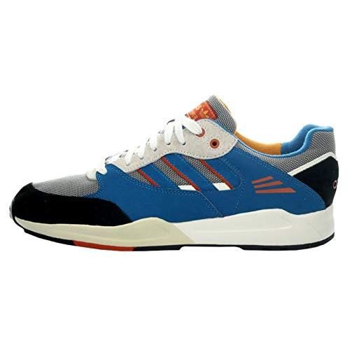 adidas Originals Mens Tech Super Trainer Gym Azul, (Bleu, Blanc,gris), 38.5 EU