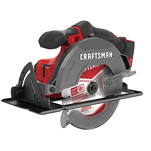 CRAFTSMAN V20 6-1/2-Inch Cordless Circular Saw, Tool Only (CMCS500B)