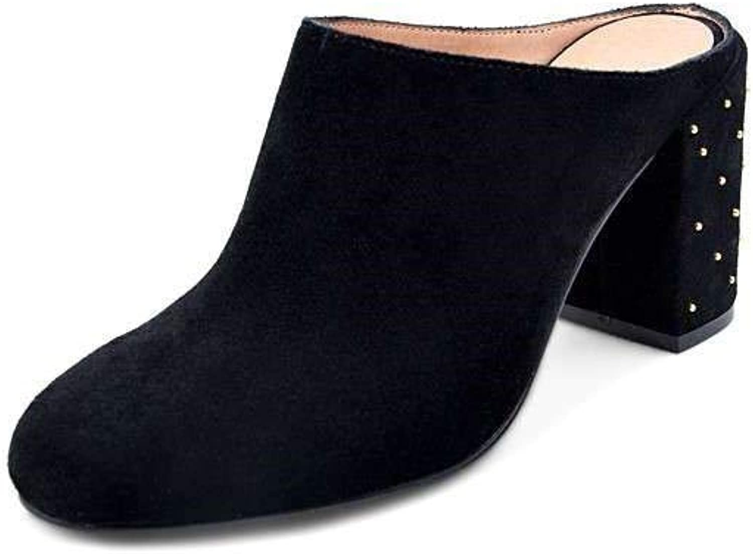 Bettye Muller Womens Stately Leather Round Toe Clogs