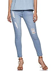 AKA CHIC Womens Regular Rise Skinny Jeans