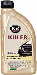 K2 Kühlerfrostschutz Fertiggemisch, long life, Farbe grün, bis  35°C, Kühlmittel, Kühlflüssigkeit, Frostschutzmittel, für alle Automarken geeignet 1L
