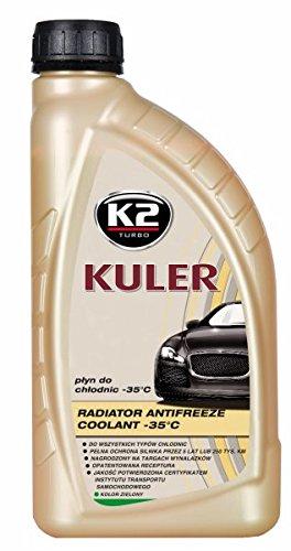 K2 antivries kant-en-klaar mengsel, long life, kleur groen, tot -35 °C, koelmiddel, koelvloeistof, antivries, geschikt voor alle automerken, 1 l