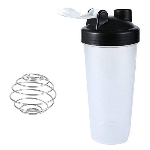 LAOMAO Gymadvisor batidora de proteínas para Deportes, Botella de Agua + 1 Mezclador de Acero Inoxidable para Gimnasio, calistenia, Salud, Fitness