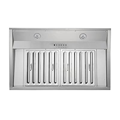 "KOBE IN2636SQB-1100-5 Deluxe 36"" Built-In/Insert Range Hood"