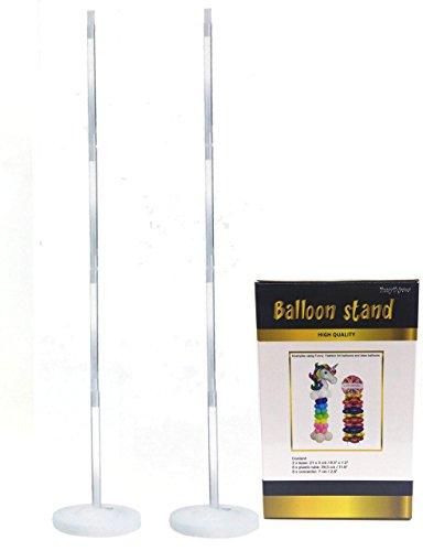 2 Estructuras para columna de globos posición vertical con bases rellenables. Altura 120cm