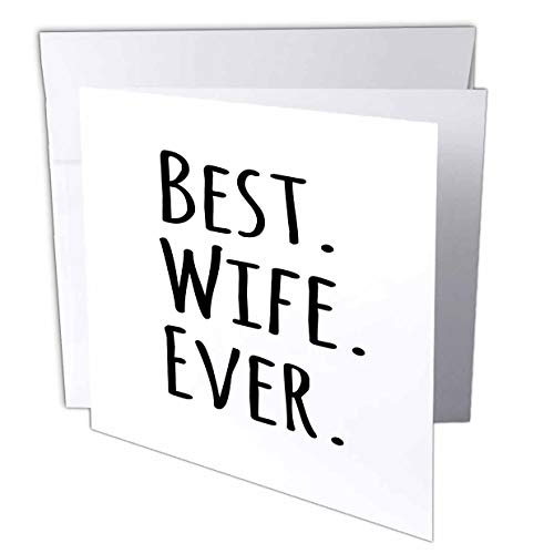 3Drose Best Wife Ever - Fun Romantic Married Wedded Love Gifts for Her for...