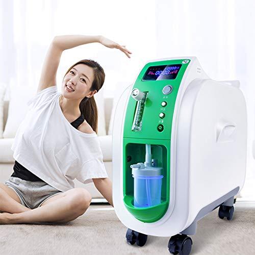 QIYE Portable Home Sauerstoffkonzentrator, Tragbarer Sauerstoffkonzentrator Generator, O2-Generatoren Luftreiniger, Hohe Reinheit Sauerstoff Generator, für den Heimreisebetrieb