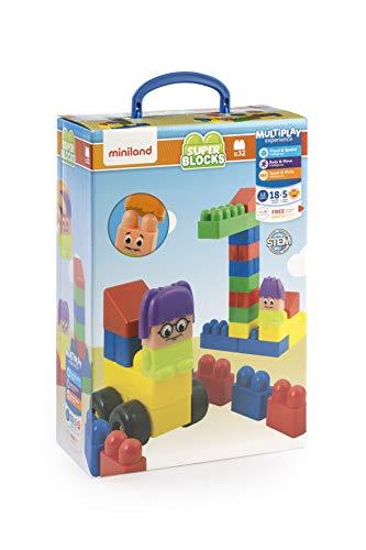 Miniland - 8232336 - Blocs de Construction - 32 Pièces