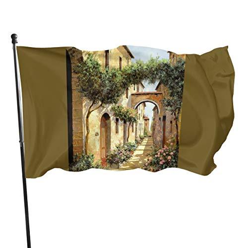 N/ Passando Sotto L'arco Kunstdruck Flagge Banner Flaggen, 91 x 152 cm