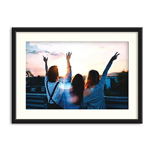 bestdeal depot Personalized Paper Framed Canvas with Your Photo,Custom Canvas Prints Wall Art for Living Room, Bedroom Ready to Hang 31x23 inches
