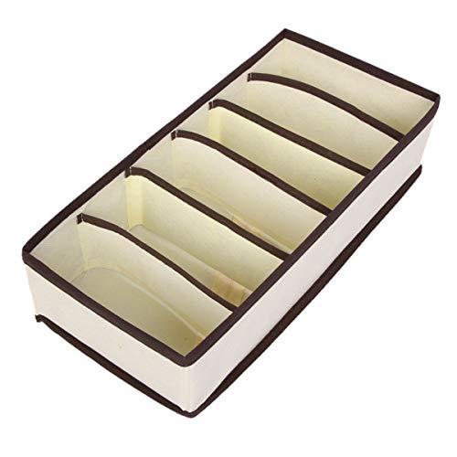HengYing - Scatola portaoggetti multifunzione per armadio, 6 celle
