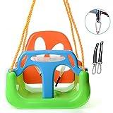 FANGX Babyschaukel,3-in-1 Kinderschaukel Baby Garten Schaukel Einfache Montage und Demontage Einstellbare Seil bis zu 100 kg,A