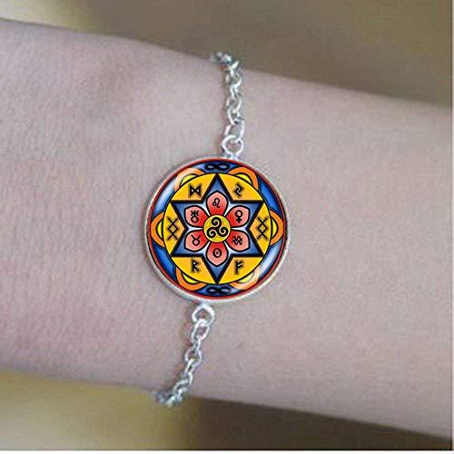 Celtic Knot Triple Spiral Mandala Bracelet Glass Jewelry Fashion Jewelry Gifts