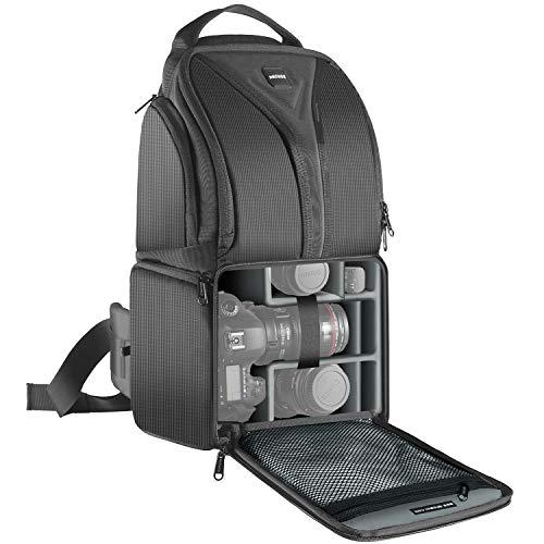 Neewer® Professionale Zaino di Stoccaggio per Fotocamera Durevole Impermeabile Antistrappo Backpack Nero per Fotocamera DSLR, Obiettivo & Accessori NW-XJB0102 (Arancione all'Interno)