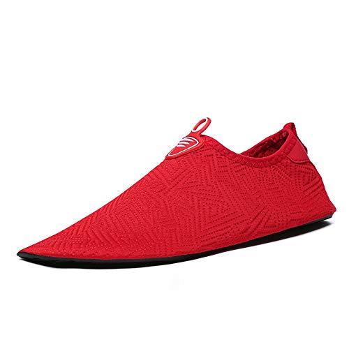 Hombres Mujeres Calcetines Descalzos Zapatos de cuero antideslizante Diseño de secado rápido...