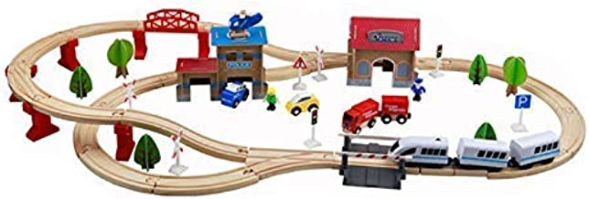 Electric High-speed Rail Remote Control Train Toy Compatible With Wooden  p j