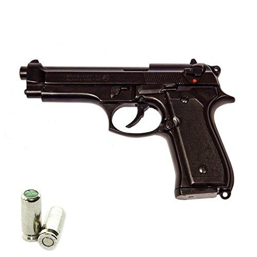 Scacciacani Pistola a Salve BRUNI Beretta 92 Cal.9 Pak | Top Firing | Nera