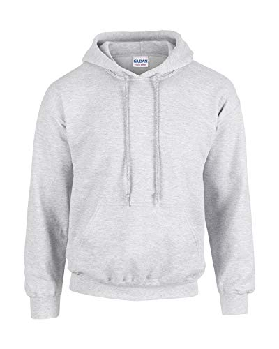 Gildan Herren Adult 50/50 Cotton/Poly. Hooded Sweat Sweatshirt, Gr. M, Ashgrey