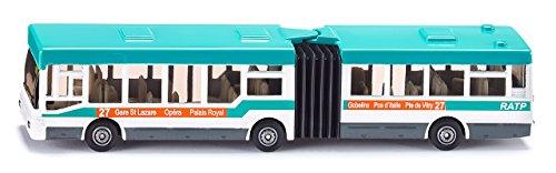 SIKU 1617001 - Autobus Articulé À Soufflet, Métal/Plastique, Blanc/Turquoise, Pneus En Caoutchouc, Véhicule Jouet Pour Enfants