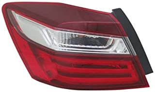 Tail Light - Cooling Direct Fit/For HO2804108 16-17 Honda Accord-Sedan Tail Lamp Assembly Left Hand Side - Driver Outer On Body CAPA