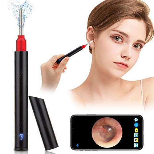 Softula Earwax Removal Tool,HD Wireless Otoscope Ear Wax Remover Kit Portable Ear Camera WiFi Ear Endoscope with Bright LED Light 3.5mm Visual Ear Cleaning Camera with Ear Spoons for Adults Kids Pets