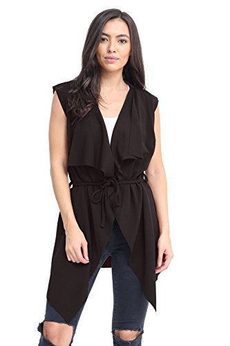 Momo&Ayat Fashions Dames Mouwloos Waterval Belted Waterval Vest UK Maat 8-26