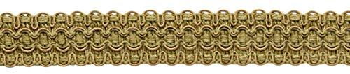 Lavish 25mm Wide Artichoke Green, Medium Gold Gimp Braid Trim Style# 0100VG Color: Olive Grove - VNT15 Sold by the Yard (91cm / 3 Ft / 36\