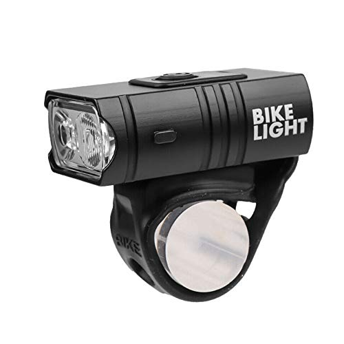 Luz para bicicleta, Faro recargable USB para bicicleta, Faro delantero para bicicleta LED, Luz delantera impermeable para bicicleta de montaña de 10 W y 6 modos