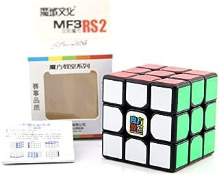 GoodPlay MoYu Cubing Classroom MF3RS2 Magic Cube MF3RS V2 3x3 Speed Cube Enhance Version 3x3x3 Cube, Come with one MoYu Bag as Gift (Black)