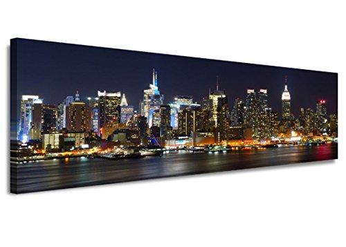 bestpricepictures 120 x 40 cm Quadro su Tela New York USA 5715-SCT - Stampa/Disegno/Immagine Pronto da Appendere