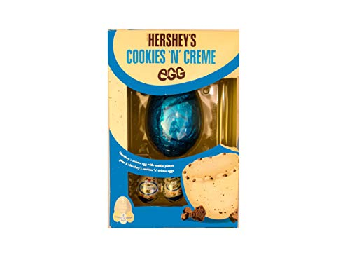 Hershey's Cookie n Creme Easter Egg Uova Di Pasqua Limited Edition 257gr (1 Large Creme Egg + 3 Cookie n creme Eggs)