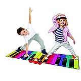 RAINBOW COLOURS- Alfombra Gigante para Piano de Colores de Arco Iris de 6 pies (RW30047)
