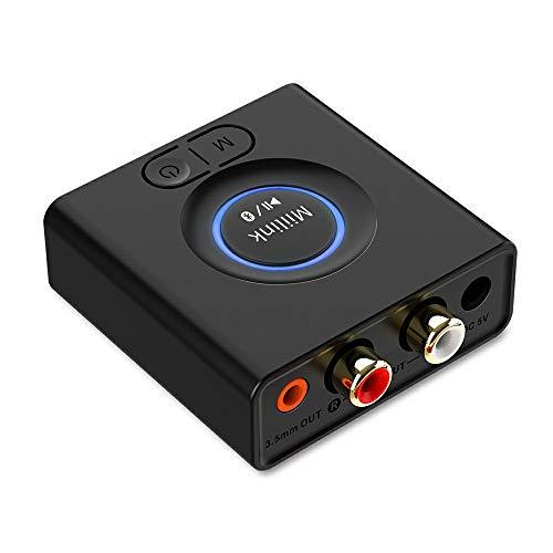 1mii Adapteur Bluetooth pour la Diffusion de Musique vers la Système Audio, Miilink Adapteur Audio sans-Fil pour Système Stéréo Domestique, Récepteur Bluetooth pour Haut-parleurs