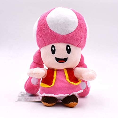 Super Mario Mushroom Sister Soft Toy-Soft Plush Doll Bonito Regalo De DecoracióN Del Hogar De Felpa Aproximadamente 18cm