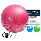Sportastisch Top¹ Pelota de Ejercicio Massage Gym Ball con espinillas y Bomba de Aire   Rojo  ...