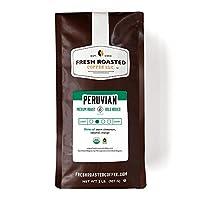 Fresh Roasted Coffee LLC, Organic Peruvian Sol y Café Coffee, Medium Roast, Fair Trade, USDA Organic, Whole Bean, 2 Pound Bag
