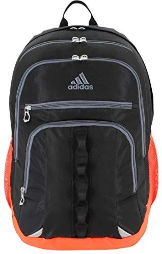 adidas Unisex Prime Backpack, Black/Blaze Orange/Onix, ONE SIZE