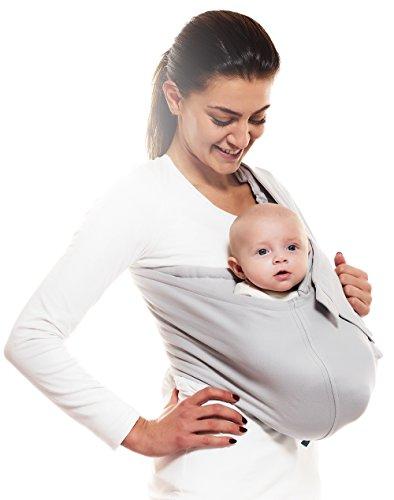 Beruhigen sie ihr Baby /& Erledigen sie anfallende Aufgaben Perfekte Unterst/ützung beim stillen BLAU Ideales Babytuch f/ür Neugeborene und Kleinkinder weiches Baumwoll Babytragetuch