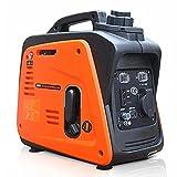 QuRRong Generador Inverter 22 0V 1200W Generador De Gasolina Inversor AC/DC Estación De Carga Al Aire Libre del Silencio Portátil del Hogar para Viaje por Carretera (Color : Orange, Size : 1200W)