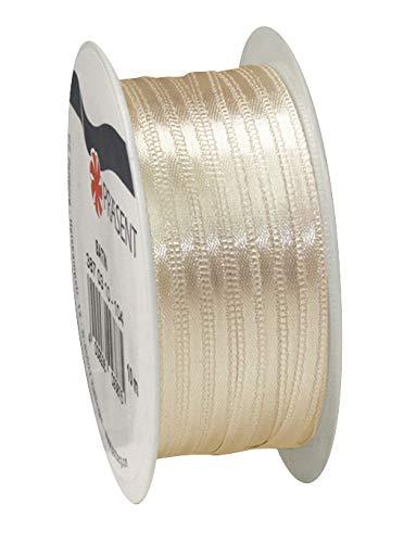 VBS Satinband Dekoband 3mm 10m lang 100% Polyester Creme