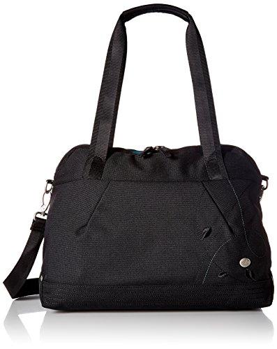 HAIKU Women's Virtuoso Crossbody Travel Satchel Handbag, Black Juniper
