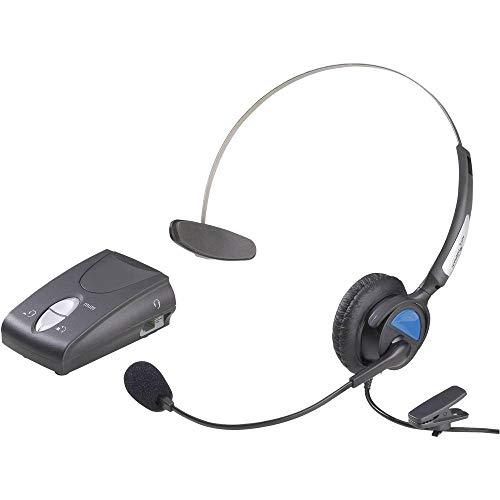 Basetech KJ-97 Telefon-Headset RJ10-Buchse schnurgebunden, Mono On Ear Schwarz