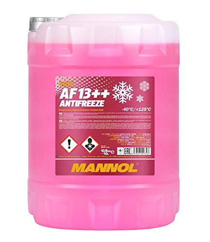 MANNOL 10 Liter, AF13++ -40°C Antifreeze Kühlerfrostschutz Fertigmischung G13