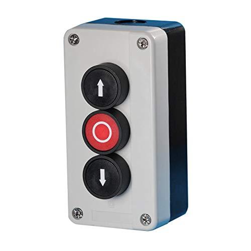 BAUER - Drucktaster AP Auf/Zu/Stop | Aufzug, Torantrieb, Garage, Garagentor, Tor, Tore