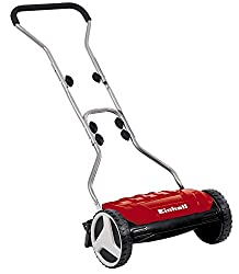 Einhell hand lawn mower GE-HM 38 S (38 cm cutting width, 4-step cutting height adjustment, without drive, for up to 250 m², 5 cutting blades made of high quality steel)