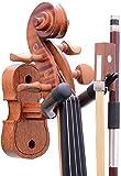Violine Viola Wandhalterung, Violine Viola Haken, Mahagoni Violine Halter, mit Bogenhaken, Home & Studio Wandhalterung Violine Kleiderbügel (Mahagoni)