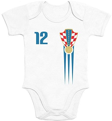 Shirtgeil Kroatien Croatia Hrvatska Fanartikel Baby Body Baby Body Kurzarm-Body 6-12 Monate Weiß
